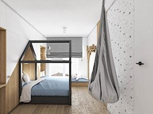 Dom w Baninie - Mały biały szary pokój dziecka dla chłopca dla dziewczynki dla malucha dla nastolatka, styl nowoczesny - zdjęcie od Pracownia Projektowa Decoretti - Agata Jachimowicz