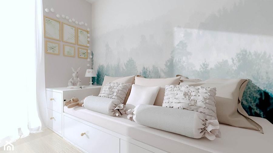 Apartament dla Mamy i Córki - Średni szary pokój dziecka dla chłopca dla dziewczynki dla nastolatka, styl glamour - zdjęcie od Pracownia Projektowa Decoretti - Agata Jachimowicz