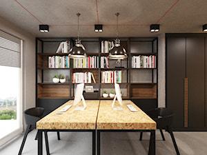 Loft Wałowa - Średnie szare biuro domowe w pokoju, styl industrialny - zdjęcie od Pracownia Projektowa Decoretti - Agata Jachimowicz