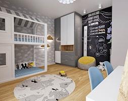 Dom Chełm 2 - Średni szary czarny pokój dziecka dla chłopca dla dziewczynki dla rodzeństwa dla ucznia dla malucha dla nastolatka, styl nowoczesny - zdjęcie od Pracownia Projektowa Decoretti - Agata Jachimowicz