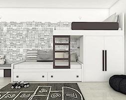 Biało-grafitowy pokój dla rodzeństwa. - zdjęcie od COLORATO meble
