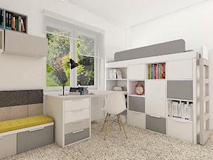 Biało-szary pokój dla chłopca - zdjęcie od COLORATO meble