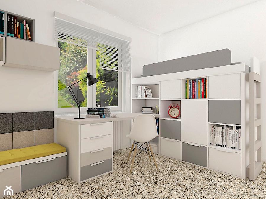 Aranżacje wnętrz - Pokój dziecka: Biało-szary pokój dla chłopca - COLORATO meble. Przeglądaj, dodawaj i zapisuj najlepsze zdjęcia, pomysły i inspiracje designerskie. W bazie mamy już prawie milion fotografii!