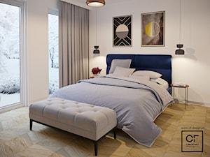 Eleganckie wnętrza w domu jednorodzinnym - Średnia biała sypialnia małżeńska, styl art deco - zdjęcie od O.Fiedorowicz