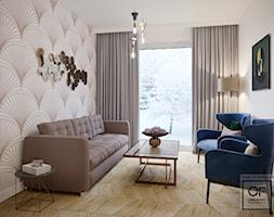 Eleganckie wnętrza w domu jednorodzinnym - Mały szary salon, styl art deco - zdjęcie od O.Fiedorowicz