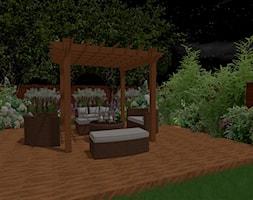 Projekt tarasu ogrodowego - Duży taras z tyłu domu, styl nowoczesny - zdjęcie od OGRÓD & WNĘTRZE