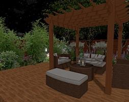 Projekt tarasu ogrodowego - Średni taras z tyłu domu, styl nowoczesny - zdjęcie od OGRÓD & WNĘTRZE