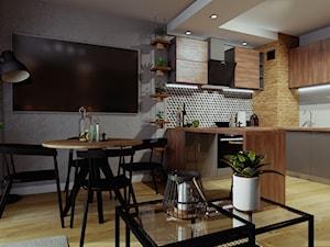 Salon z niewielkim aneksem kuchennym / Stargard