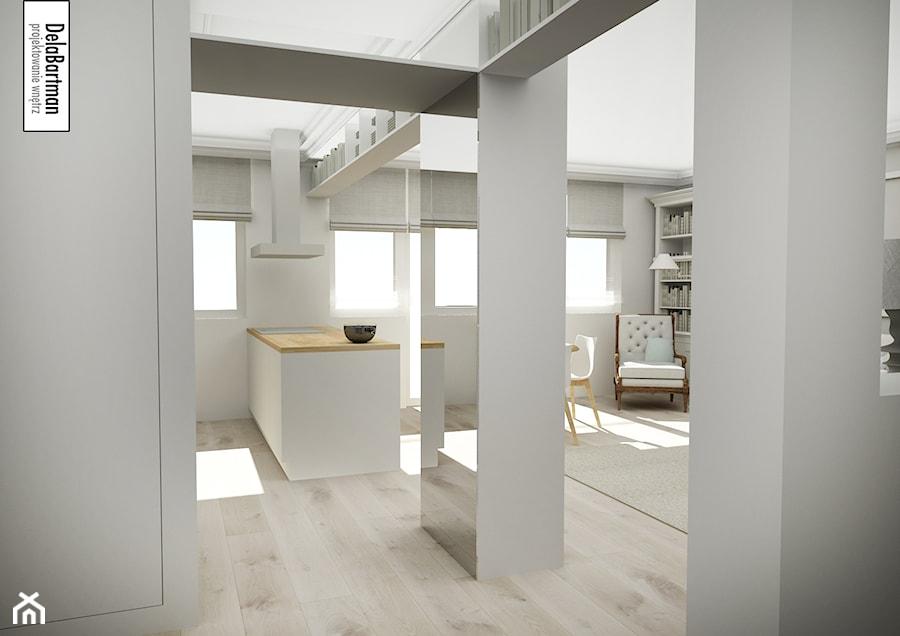 Mieszkanie Inspirowane Stylem Hampton średni Szary Hol