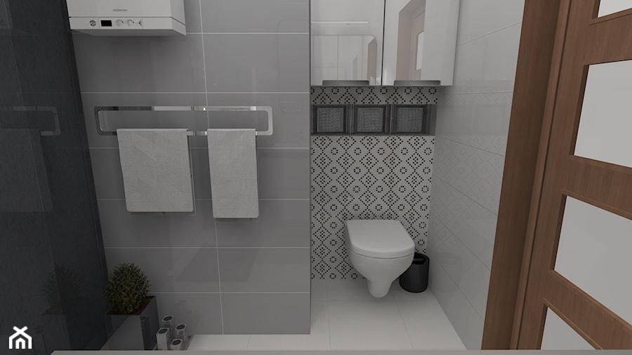 Biało Szara łazienka Zdjęcie Od Feel Project Homebook
