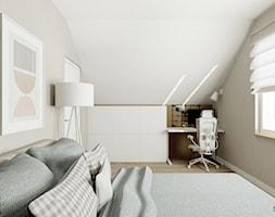 Łagodny w formie i kolorach styl skandynawski - antresola w domu jednorodzinnym - zdjęcie od Feel-Project - Homebook