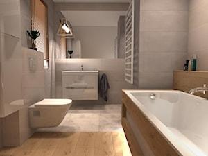 Beżowa łazienka w Poznaniu
