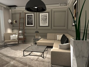Wzór mieszkania pod wynajem - dla businessman-a