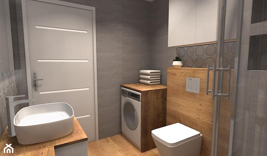 Szara łazienka Z Drewnem Zdjęcie Od Feel Project Homebook