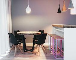 Minimalistyczna jadalnia - Średnia otwarta szara jadalnia w kuchni, styl industrialny - zdjęcie od Meble.pl