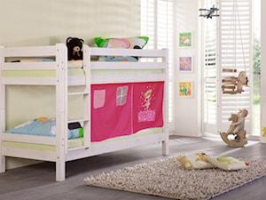 Pokój dziecka - Mały biały żółty pokój dziecka dla chłopca dla dziewczynki dla rodzeństwa dla malucha, styl tradycyjny - zdjęcie od Meble.pl