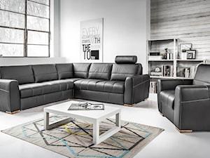 Salon - Średni duży biały salon, styl nowoczesny - zdjęcie od Meble.pl