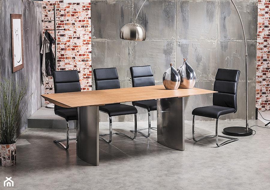 Krzesła Na Płozach Jadalnia Styl Industrialny Zdjęcie