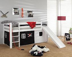 Pokój dziecka - Mały biały szary pokój dziecka dla chłopca dla dziewczynki dla malucha, styl tradycyjny - zdjęcie od Meble.pl