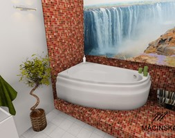 Łazienka z mozaiką - zdjęcie od MACIŃSKA ARCHITEKCI