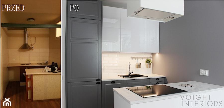 Zdjęcia z metamorfozy mieszkania 36m2 w Warszawie - Kuchnia, styl nowoczesny - zdjęcie od Voight Interiors