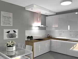 Mieszkanie - Średnia zamknięta szara kuchnia w kształcie litery l, styl nowoczesny - zdjęcie od SUARE STUDIO Natalia Margraf-Wojciechowska