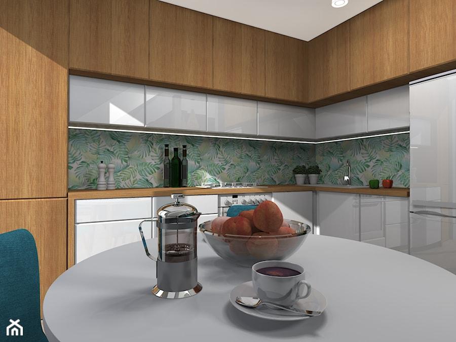 Kuchnia w stylu skandynawskim - Średnia zamknięta szara kuchnia w kształcie litery l - zdjęcie od SUARE STUDIO Natalia Margraf-Wojciechowska