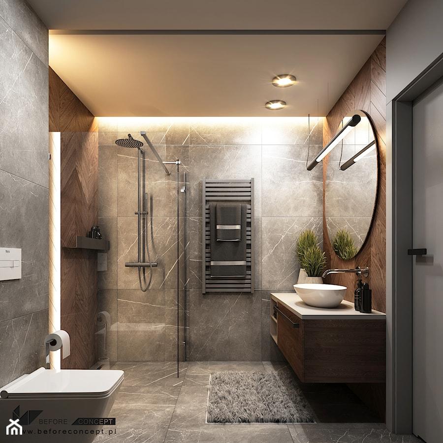 Projekt łazienki - Borzęcin Duży - zdjęcie od BEFORECONCEPT