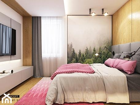 Aranżacje wnętrz - Sypialnia: Kolejny projekt mieszkania w Krakowie - Duża szara sypialnia małżeńska, styl nowoczesny - BEFORECONCEPT. Przeglądaj, dodawaj i zapisuj najlepsze zdjęcia, pomysły i inspiracje designerskie. W bazie mamy już prawie milion fotografii!