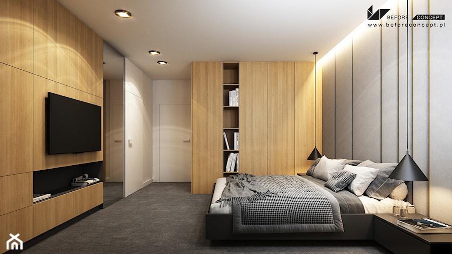 Przestronna sypialnia - zdjęcie od BEFORECONCEPT