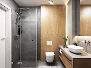 Kolejny projekt mieszkania w Krakowie - Średnia szara łazienka w bloku w domu jednorodzinnym bez okna, styl nowoczesny - zdjęcie od BEFORECONCEPT