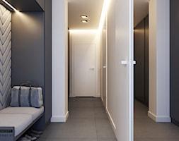 Mieszkanie - Kraków strefa dzienna - Średni biały czarny hol / przedpokój, styl nowoczesny - zdjęcie od BEFORECONCEPT
