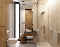 Łazienka kamień + drewno - zdjęcie od BEFORECONCEPT - Homebook