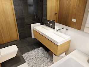 WARSZAWA 170m2 - Mała biała łazienka w bloku w domu jednorodzinnym bez okna, styl nowoczesny - zdjęcie od BEFORECONCEPT