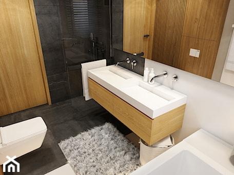 Aranżacje wnętrz - Łazienka: WARSZAWA 170m2 - Mała biała łazienka w bloku w domu jednorodzinnym bez okna, styl nowoczesny - BEFORECONCEPT. Przeglądaj, dodawaj i zapisuj najlepsze zdjęcia, pomysły i inspiracje designerskie. W bazie mamy już prawie milion fotografii!