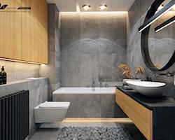 Łazienka z szarymi płytkami - aranżacje, pomysły, inspiracje