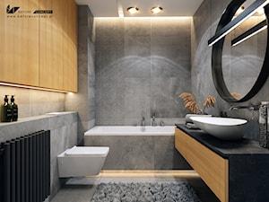 Klimatyczna łazienka - Średnia łazienka w bloku w domu jednorodzinnym bez okna, styl nowoczesny - zdjęcie od BEFORECONCEPT