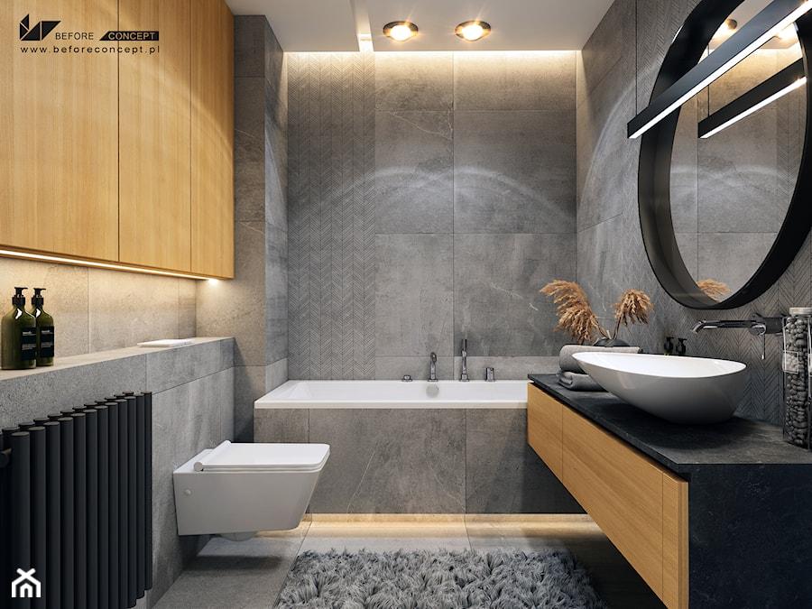 Aranżacje wnętrz - Łazienka: Klimatyczna łazienka - Średnia łazienka w bloku w domu jednorodzinnym bez okna, styl nowoczesny - BEFORECONCEPT. Przeglądaj, dodawaj i zapisuj najlepsze zdjęcia, pomysły i inspiracje designerskie. W bazie mamy już prawie milion fotografii!