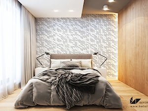 PROJEKT MIESZKANIA W KRAKOWIE 3 - Średnia sypialnia małżeńska, styl nowoczesny - zdjęcie od BEFORECONCEPT