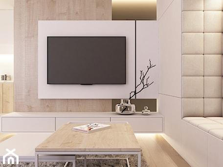 Aranżacje wnętrz - Salon: Strefa dzienna - ściana TV - BEFORECONCEPT. Przeglądaj, dodawaj i zapisuj najlepsze zdjęcia, pomysły i inspiracje designerskie. W bazie mamy już prawie milion fotografii!