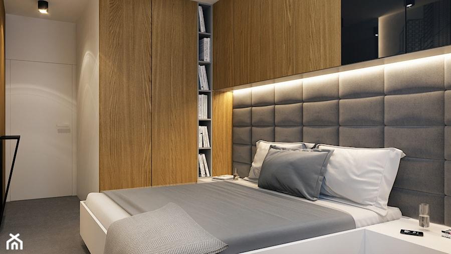 PROJEKTOWO W KRAKOWIE - Średnia biała sypialnia małżeńska, styl nowoczesny - zdjęcie od BEFORECONCEPT