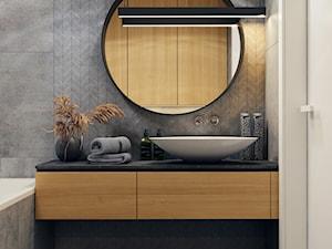 Klimatyczna łazienka - Łazienka w bloku w domu jednorodzinnym bez okna, styl nowoczesny - zdjęcie od BEFORECONCEPT