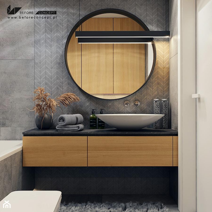 Aranżacje wnętrz - Łazienka: Klimatyczna łazienka - Łazienka w bloku w domu jednorodzinnym bez okna, styl nowoczesny - BEFORECONCEPT. Przeglądaj, dodawaj i zapisuj najlepsze zdjęcia, pomysły i inspiracje designerskie. W bazie mamy już prawie milion fotografii!
