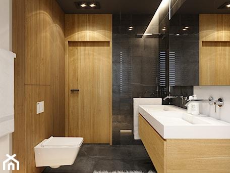 Aranżacje wnętrz - Łazienka: WARSZAWA 170m2 - Mała biała czarna łazienka na poddaszu w bloku w domu jednorodzinnym bez okna, styl nowoczesny - BEFORECONCEPT. Przeglądaj, dodawaj i zapisuj najlepsze zdjęcia, pomysły i inspiracje designerskie. W bazie mamy już prawie milion fotografii!
