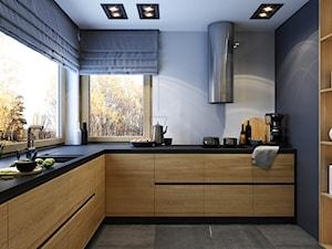 WARSZAWA 170m2 - Średnia zamknięta szara kuchnia w kształcie litery l z oknem, styl nowoczesny - zdjęcie od BEFORECONCEPT