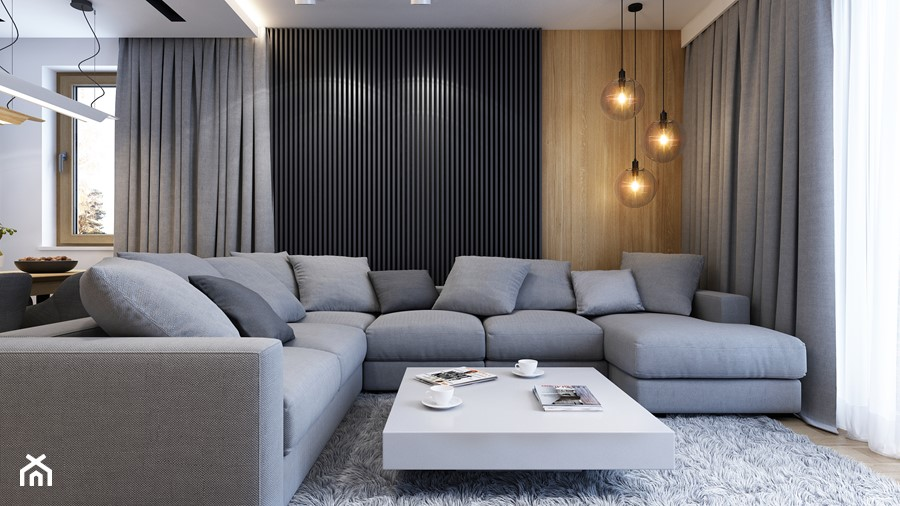 WARSZAWA 170m2 - Duży salon, styl nowoczesny - zdjęcie od BEFORECONCEPT