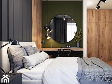 Aranżacje wnętrz - Sypialnia: Klimatyczne mieszkanie w Krakowie 3 - Średnia zielona czarna sypialnia małżeńska, styl nowoczesny - BEFORECONCEPT. Przeglądaj, dodawaj i zapisuj najlepsze zdjęcia, pomysły i inspiracje designerskie. W bazie mamy już prawie milion fotografii!