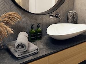 Klimatyczna łazienka - Mała łazienka w bloku w domu jednorodzinnym bez okna, styl nowoczesny - zdjęcie od BEFORECONCEPT