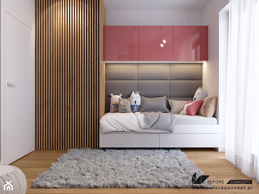Klimatyczne mieszkanie w Krakowie 3 - Średni biały pokój dziecka dla dziewczynki dla malucha dla nastolatka, styl nowoczesny - zdjęcie od BEFORECONCEPT