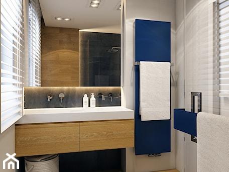 Aranżacje wnętrz - Łazienka: WARSZAWA 170m2 - Średnia biała szara łazienka na poddaszu w bloku w domu jednorodzinnym z oknem, styl nowoczesny - BEFORECONCEPT. Przeglądaj, dodawaj i zapisuj najlepsze zdjęcia, pomysły i inspiracje designerskie. W bazie mamy już prawie milion fotografii!